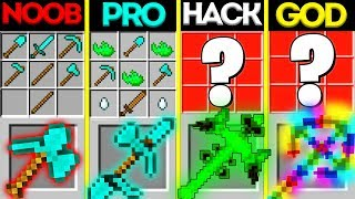 Minecraft NOOB vs PRO vs HACKER vs GOD: ABILITY PICKAXE CRAFTING MUTANT MONSTER CHALLENGE Animation