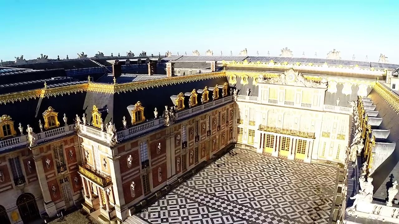 ville de versailles vue du ciel par un drone youtube. Black Bedroom Furniture Sets. Home Design Ideas