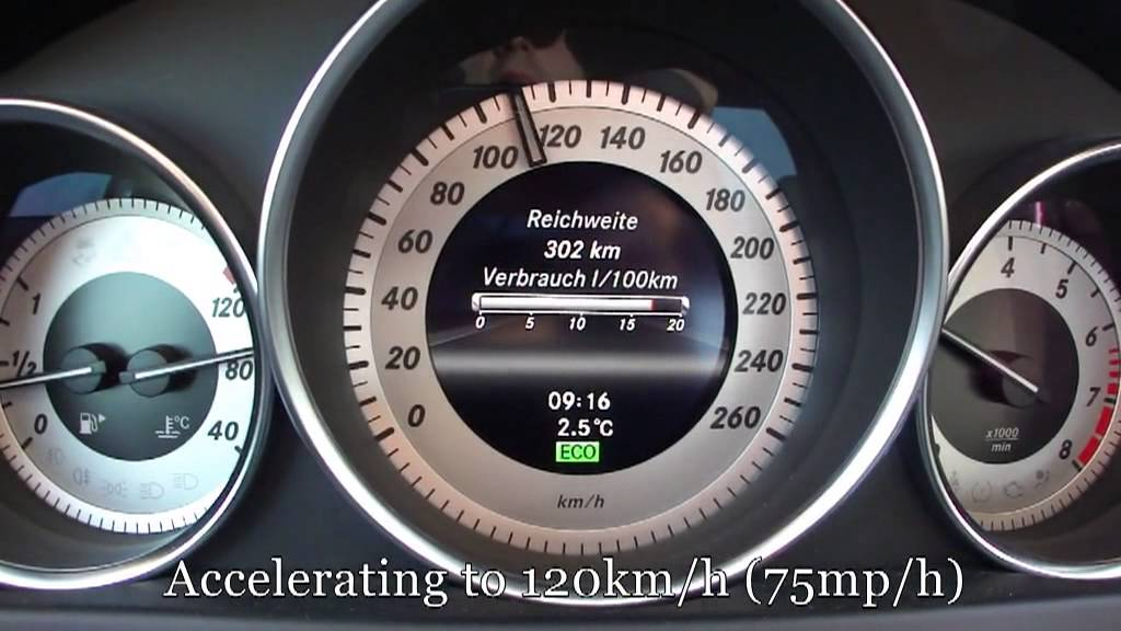 2012 mercedes benz c180 fuel consumption test - youtube