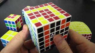 Snake Rubik's Cube Pattern 3x3 Through 7x7