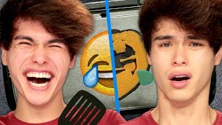 Twin vs Twin Pancake Art Challenge feat. Stokes Twins | Griddle Me This