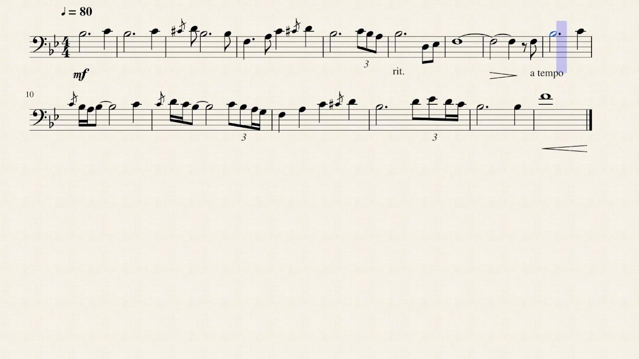The Academy 2016 Flugelhorn Solo Transcription - Baritone