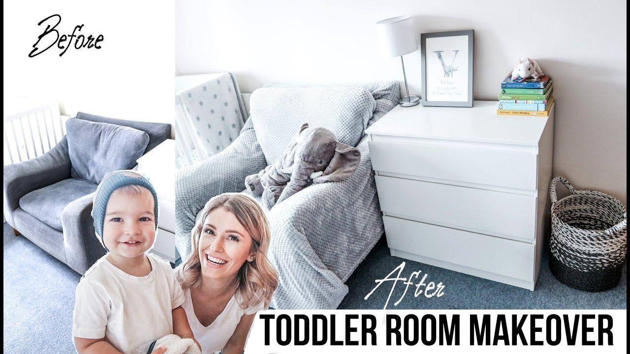 Toddler Room Makeover On A Budget Minimalist Ikea Kids Tiny Decor Storage Organisation Youtube