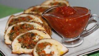 Куриная грудка фаршированная овощами  Пошаговый рецепт