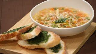 Mixed Vegetable And Pasta Soup With Pesto Bread  Majha Kitchen  Sanjeev Kapoor Khazana