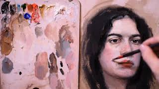 #oilcolours#paintportrait #onlineartlessons#12 Part Time Lapse oil painting by Rotelli