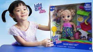 Trò Chơi Tập Chăm Sóc Em Bé – Baby Alive Bé Cưng Thích Ăn Mì ❤ Anan Toysreview TV ❤