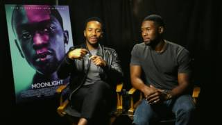 Trevante Rhodes & André Holland talk MOONLIGHT