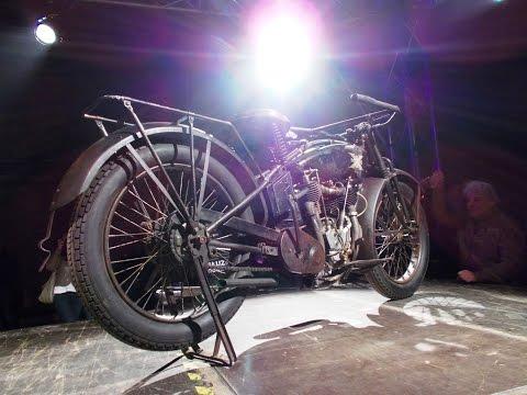 Vintage Henderson motorcycle kick-started