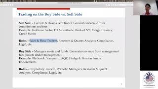 Careers in Sales & Trading and Quantitative Analytics