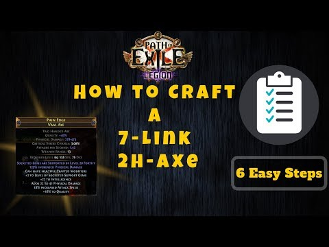Path Of Exile [3.7] 6 Easy Steps Crafting 2H-Axe, Insane Dps For Cyclone!
