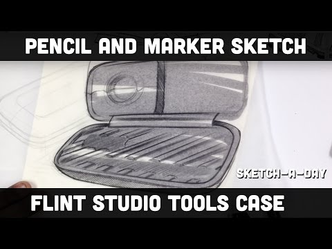 Sketch-A-Day Flint Studio Tools Calipers