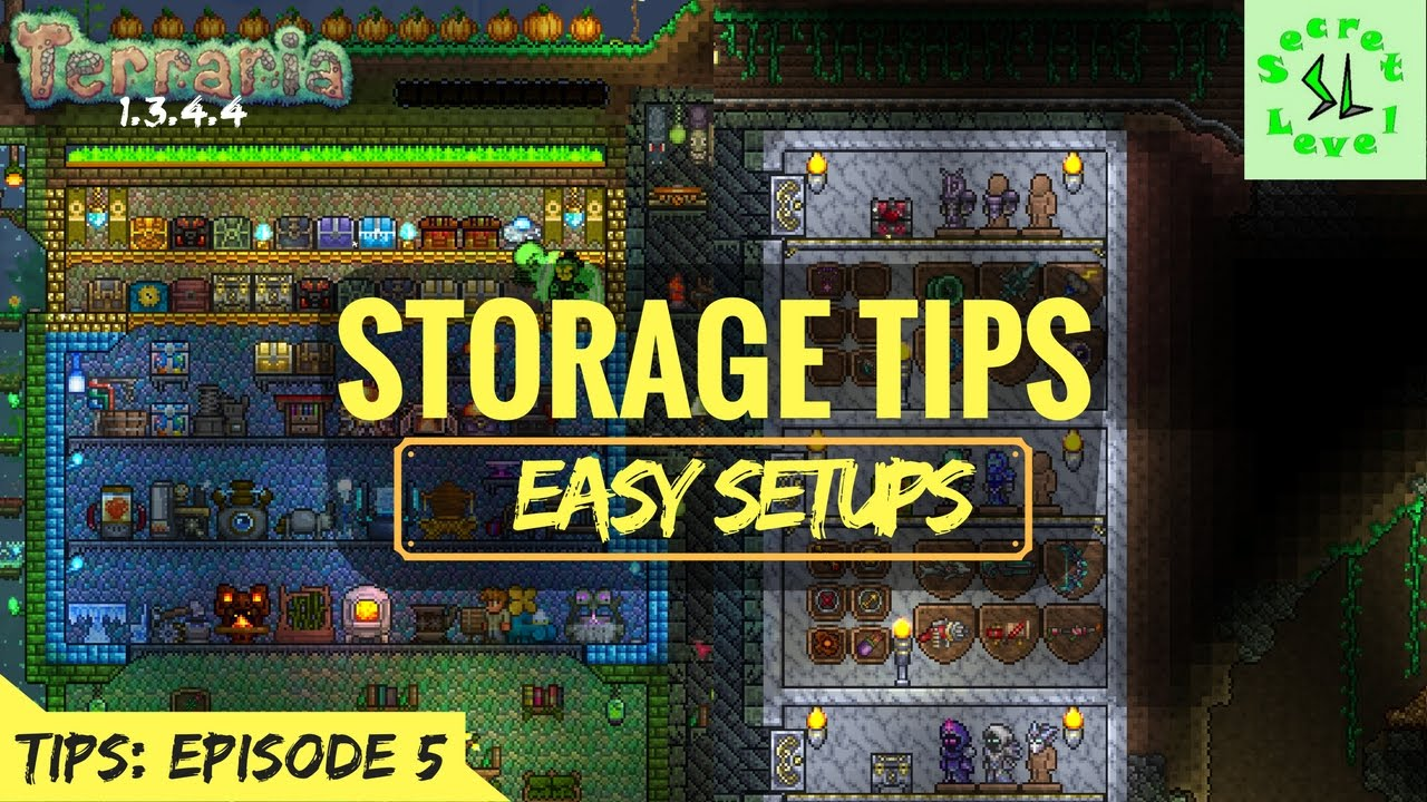 Terraria 1 3 4 4 Tips Easy Storage Setups For Items