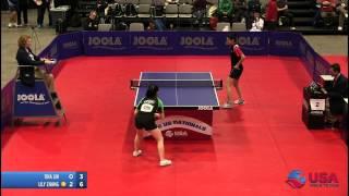 Women's Singles QF: Tina Lin vs. Lily Zhang - 2012 US National Championships