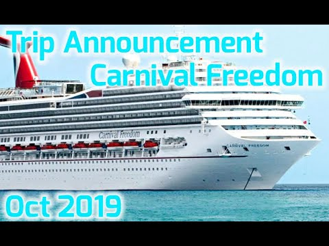 Carnival Freedom Announcement! Straws, Cruising Ducks And More!