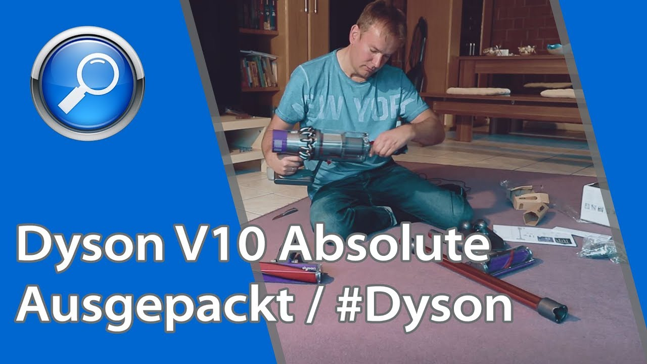 dyson v10 absolute test deutsch ausgepackt kabelloser. Black Bedroom Furniture Sets. Home Design Ideas