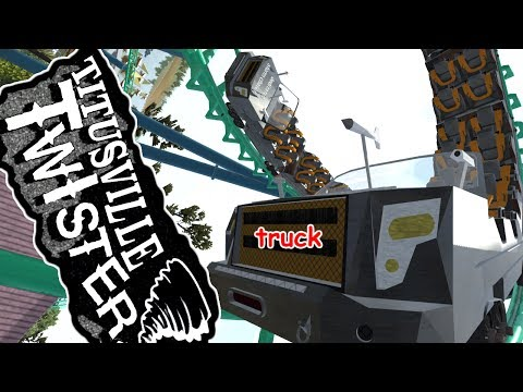 Titusville Twister (NoLimits 2) ||| Arrow Looping Corkscrew with trucks!