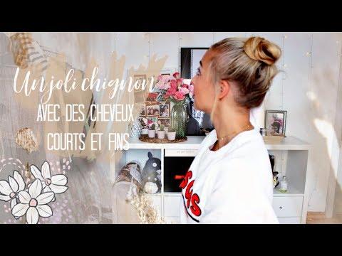 Astuce Chignon Facile Pour Cheveux Courts Et Fins Youtube