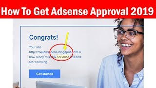How to Approve Adsense Account With Blogger in Hindi Video Tutorial 2019