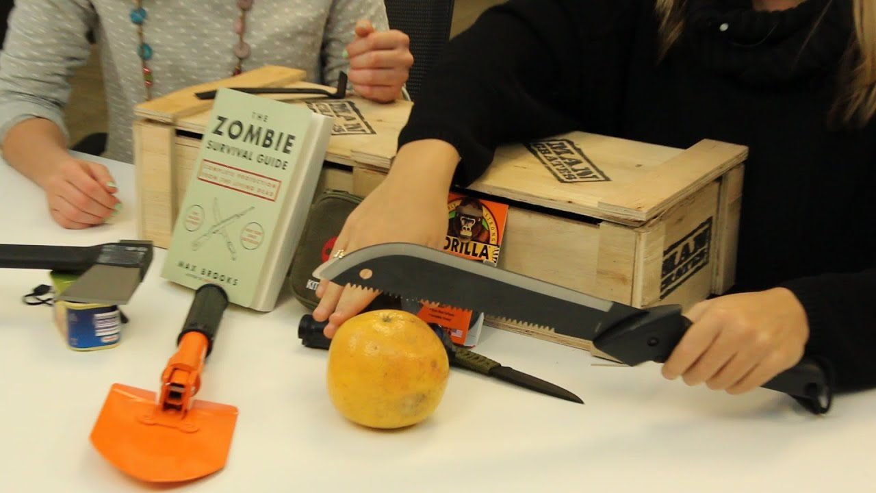 Man Cave Zombie Survival Kit : Zombie survival kit could be the greatest valentines day