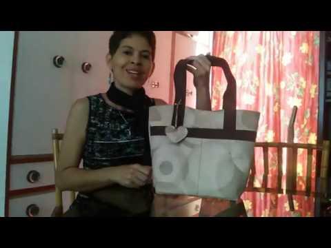 C mo hacer un bolso de tela con bolsillos paso a paso youtube - Como hacer pachwork ...