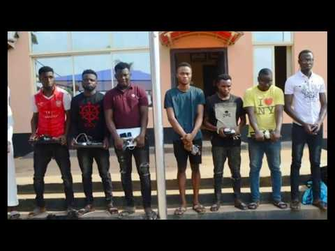SEE WHAT THESE YAHOO BOYS WERE CAUGHT USING BY EFCC