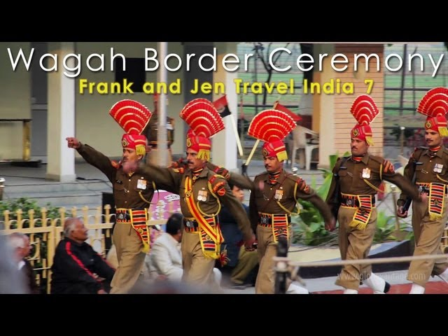 India & Pakistan Full Wagah Border Ceremony - Frank & Jen Travel India 7 Travel Video