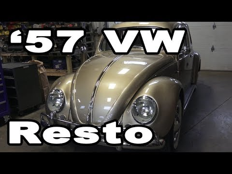 Classic VW BuGs 1957 Oval Window Ragtop Beetle Restoration Build Complete
