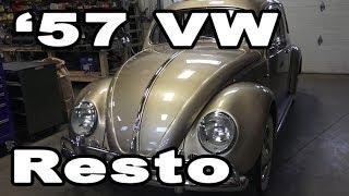 Classic VW BuGs 1957 Oval Window Ragtop Beetle Restoration Build Complete