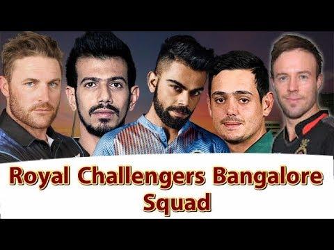 IPL 2018: Royal Challengers Bangalore Team Full Squad | Sports Tak