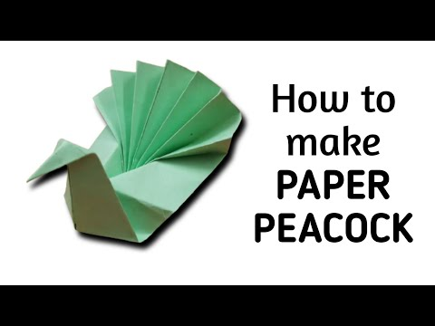How to make origami paper bird (peacock) | Origami / Paper Folding Craft, Videos & Tutorials.