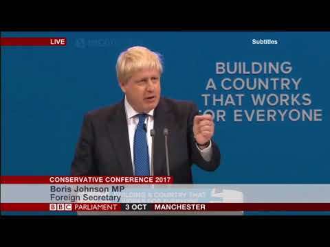 Boris Johnson - Conference speech highlights