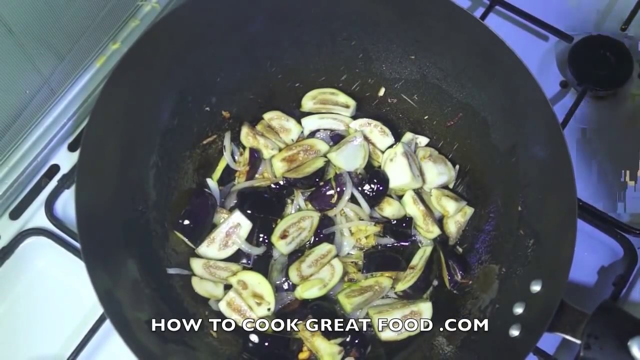 Eggplant Spinach Sir Fry Asian Stir Fry Recipe Asian Vegan Recipes Eggplant Recipes Youtube