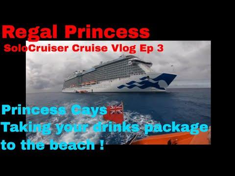 Regal Princess - Princess Cays Private Island,  BEACH PARTY !! Cruiser Vlog Ep 3
