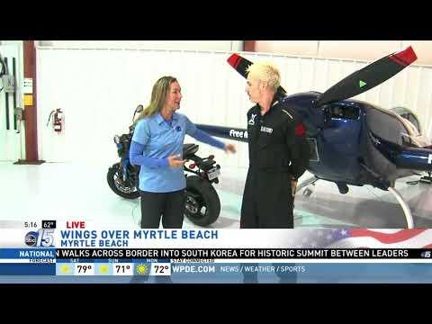 Amanda Live at air show Wings over Myrtle Beach - Good Morning Carolinas - WPDE ABC 15