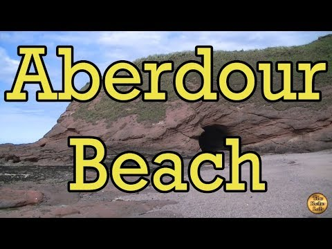Aberdour Beach with Swallows nest building in a cave