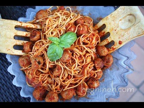 Կոլոլակով սպագետի - Spaghetti Meatballs Recipe - Heghineh Cooking Show