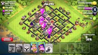 Clash of Clans - Angriff NUR mit Lavahunden + Ballons