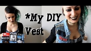 My DIY studded vest - Goth, Metal, Rock -