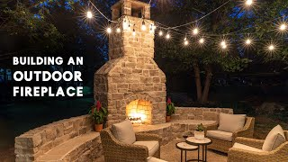building an outdoor fireplace with tips from a professional mason