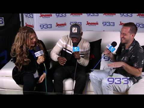Ne-Yo backstage interview with Kramer and Geena at Channel 933's Summer Kick Off Concert