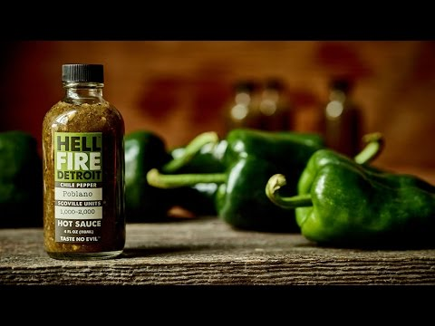 "Hell Fire Detroit ""Poblano"" Hot Sauce Review"