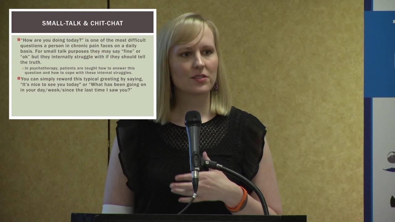 dr melissa geraghty teaches pain patients what she teaches doctors