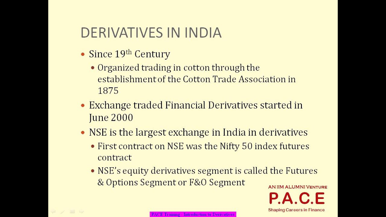 Introduction to derivatives pace video ncfm certification introduction to derivatives pace video ncfm certification 1betcityfo Image collections