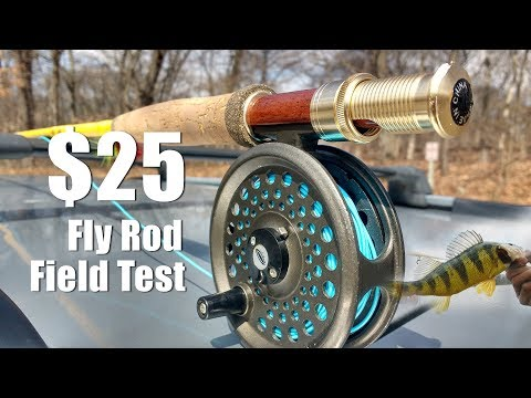 Two $25 Eagle Claw featherlight fly rods test - Yellow perch and bluegill!
