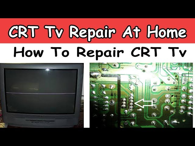 CRT Tv Vertical Line Repair ! How To Repair CRT Tv At Home