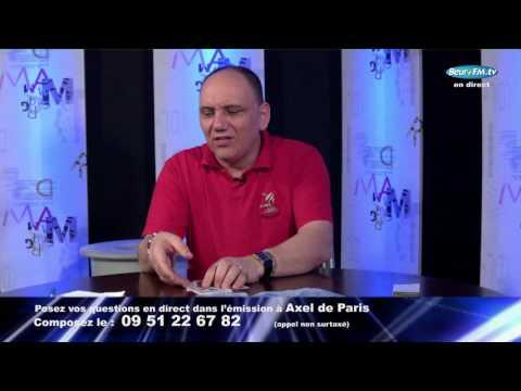 Axel de paris, vu sur astrocentertv. Emission sur Beurfmtv .Lundi 3 juillet 2017.