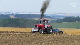 Traktoren in Limbach-Oberfrohna - 4/4 - Fortschritt, John Deere Tractor and Horses plowing - Feldtag