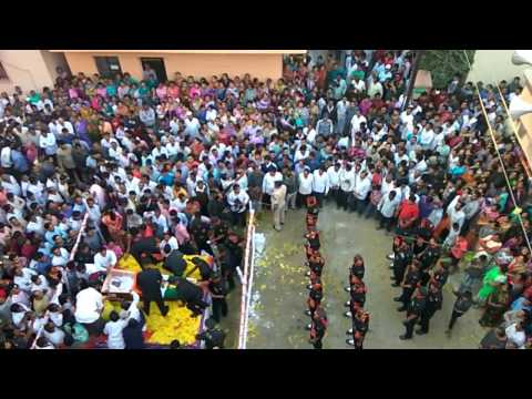 """"""" Shahid Saurabh Farate"""" Last salute (Pune)"""