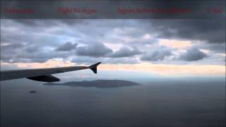 Airbus A320 approaching & landing Heraclion [Nikos Kazantzakis] - Aegean Airlines